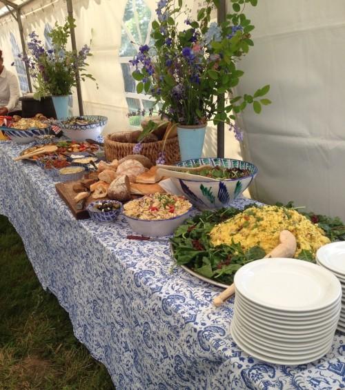 Tuinfeest 200 personen buffet Lunch GEBRUIKEN VOOR BUFFET LUNCH